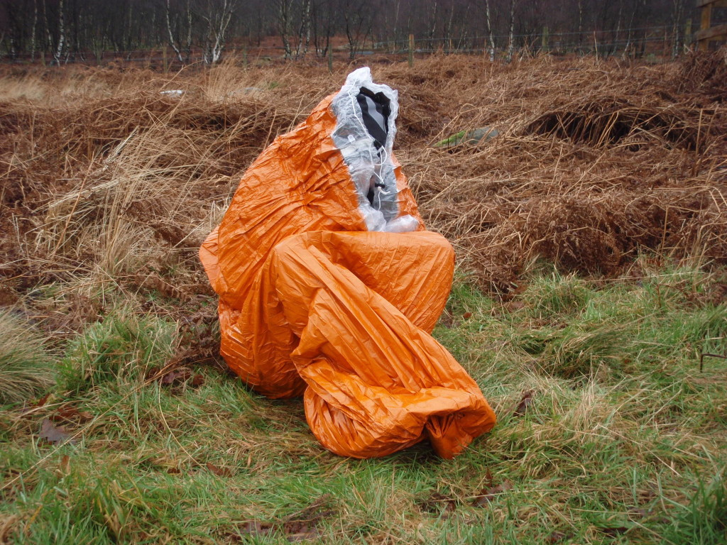 photo of person sat in a Blizzard Bag