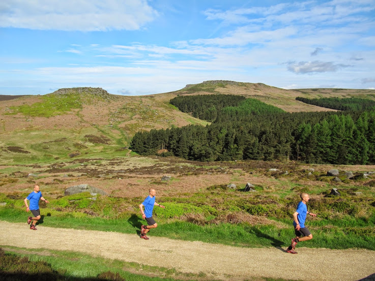 running below Carl's Wark and Higger Tor