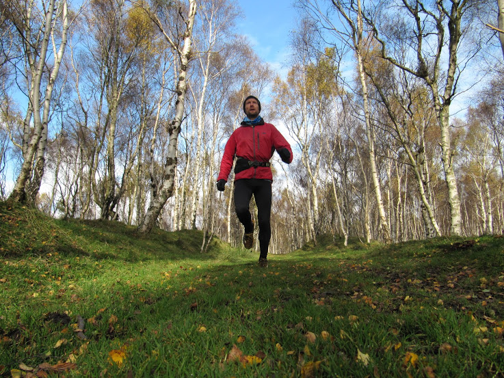 autumn trail running